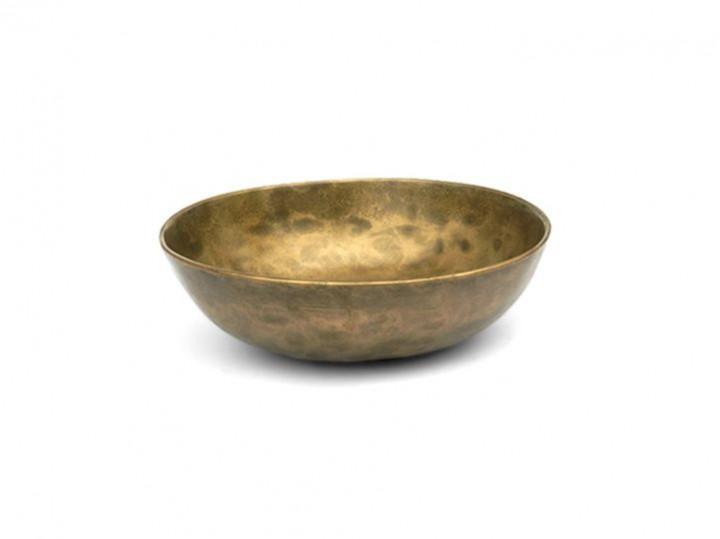Alte indische Assam Klangschale 305 Gr. Sonne + Platonisches Jahr