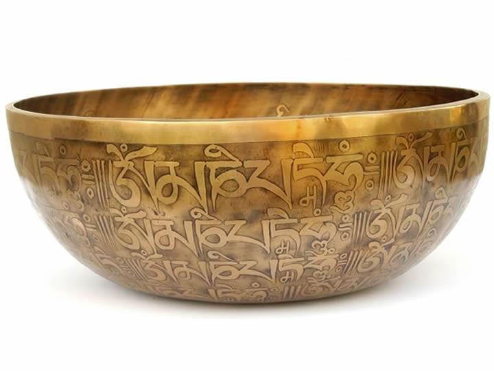 Tibetische Gravur Klangschale 4715 Gr.