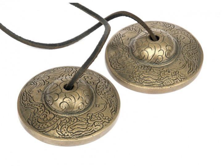 Tibetische Zimbeln 7 cm Drache