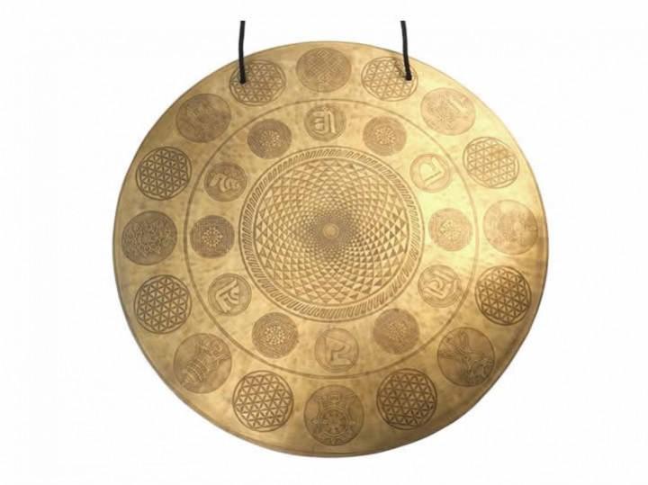 Tibetischer Gravur Gong Ø 54,5 cm