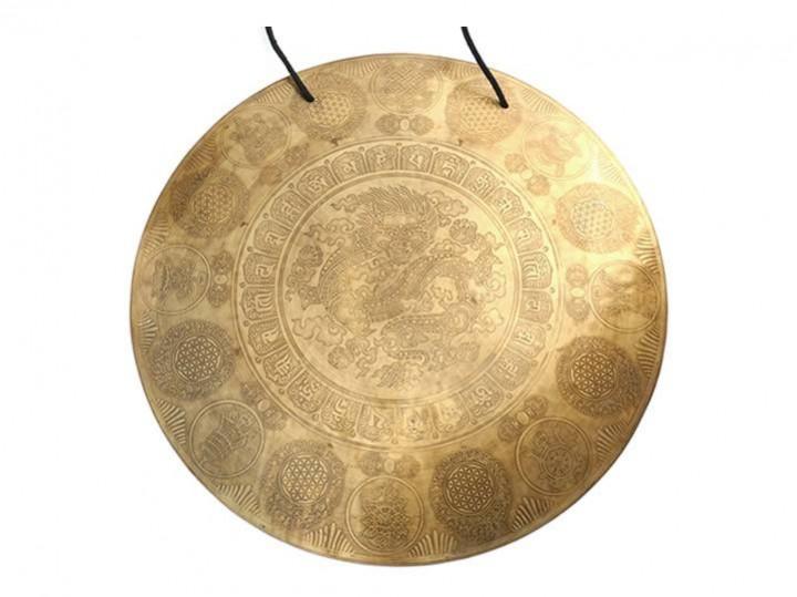 Tibetischer Gravur Gong Ø 55 cm